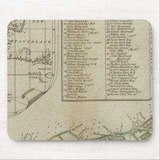 Une carte de l'île de St John Tapis De Souris