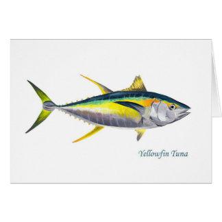 Une carte de voeux de thon de truite saumonnée