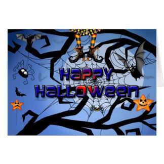 Une carte heureuse de Halloween d'amusement