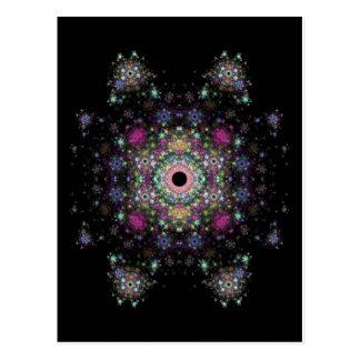 Une conception multicolore de fractale carte postale
