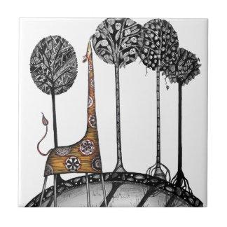 Une girafe appelée Kennett Petit Carreau Carré