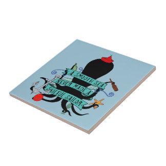 Une mer lisse n'a jamais fait un marin habile petit carreau carré