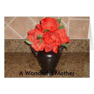 , une mère merveilleuse carte de vœux