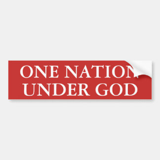 Une nation sous Dieu Autocollant De Voiture