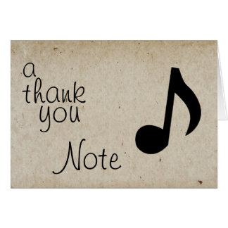 Une note de Merci Carte De Correspondance