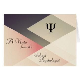 Une note du psychologue d'école (cartes de note) carte de correspondance