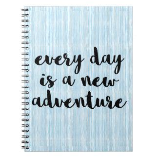 Une nouvelle citation d'aventure carnet