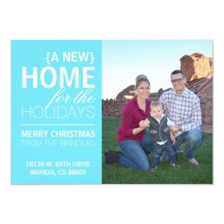 Une nouvelle maison pour la carte de vacances carton d'invitation  12,7 cm x 17,78 cm