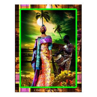 Une nuit des rythmes africains cartes postales