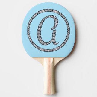 Une palette bling de ping-pong de monogramme raquette tennis de table