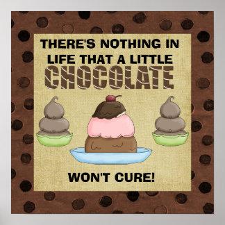 Une peu d'affiche de chocolat poster