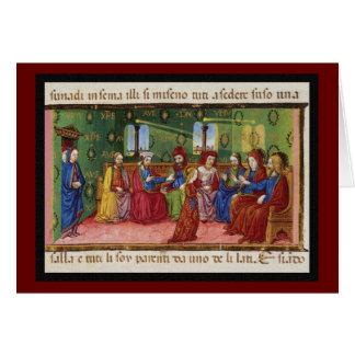 Une présentation de Vierge Marie c1476 Carte De Vœux