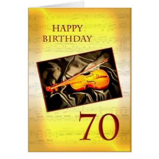 Une soixante-dixième carte d'anniversaire musicale