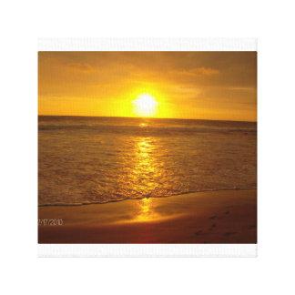 Une toile de lever de soleil