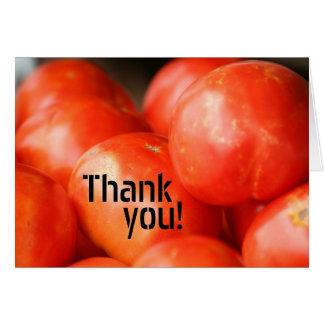 Une tomate, carte de deux tomates
