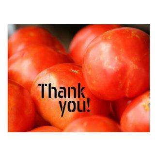 Une tomate, carte postale de deux tomates