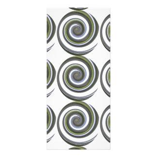 Une torsion moderne carte double en  couleur