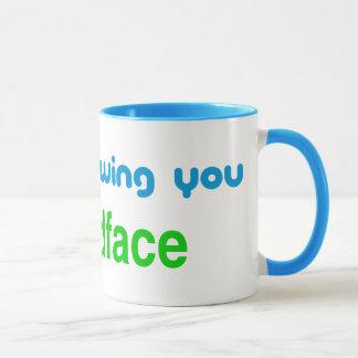 Unfollowing, friendface mug