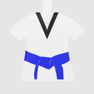 Uniforme bleu-clair de ceinture d'arts martiaux