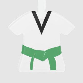 Uniforme de ceinture verte d'arts martiaux