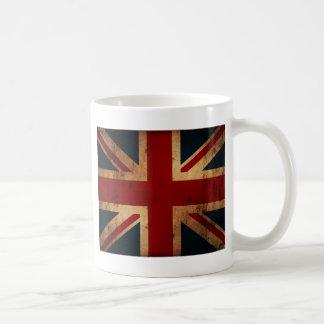Union Jack (regard affligé par cru) Mug Blanc