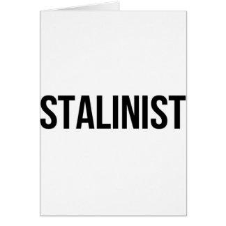 Union Soviétique staliniste URSS CCCP de Josef Carte De Vœux