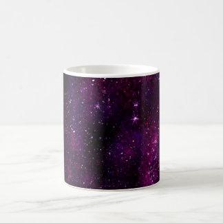 Univers foncé de galaxie de hippie mug blanc