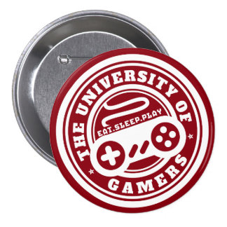 Université rouge de bouton de jeu de phoque de badge rond 7,6 cm
