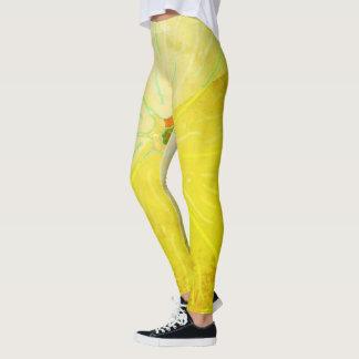 Usage actif Legging de citron de femmes abstraites