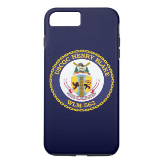 "USCGC Henry Blake WLM-563 ""bleu marine "" Coque iPhone 8 Plus/7 Plus"
