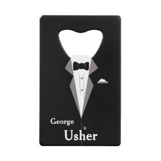 Usher personnalisent l'ouvreur de bouteille de