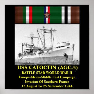 USS CATOCTIN (AGC-5) AFDRUK