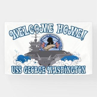 USS George Washington - maison bienvenue Banderoles