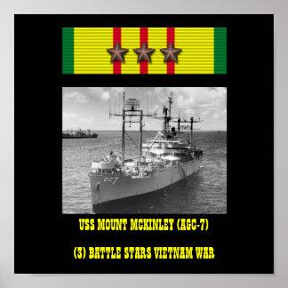 USS ZET HET POSTER MCKINLEY (VAN AGC-7) OP
