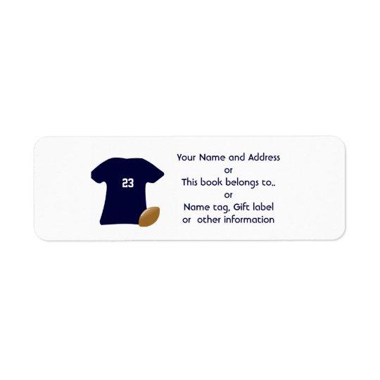 Uw Adresetiket van de Terugkeer van het Overhemd Retouretiket