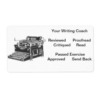 Uw het Schrijven Etiket van de Bus