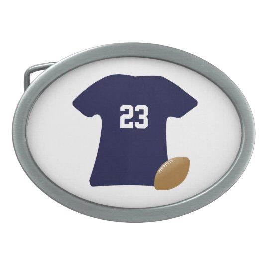 Uw Overhemd van het Football met Bal Gesp