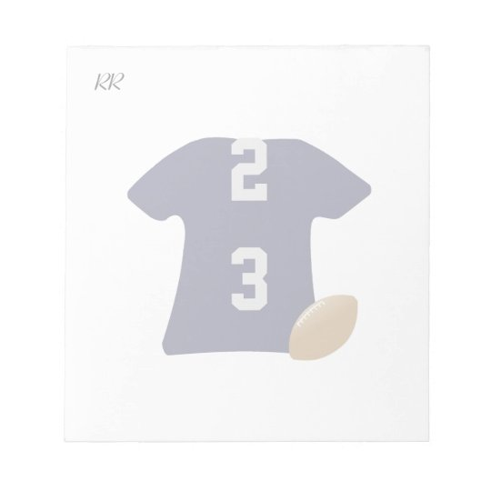 Uw Overhemd van het Football met Bal op Kleine Kladblokken