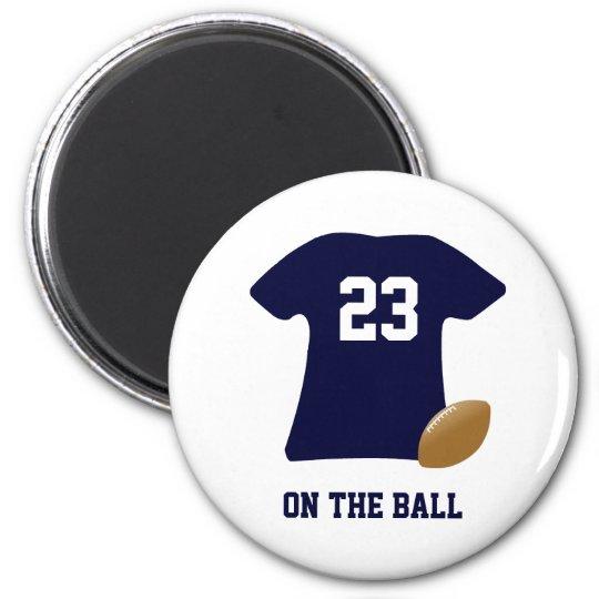 Uw Overhemd van het Football met Bal Ronde Magneet 5,7 Cm