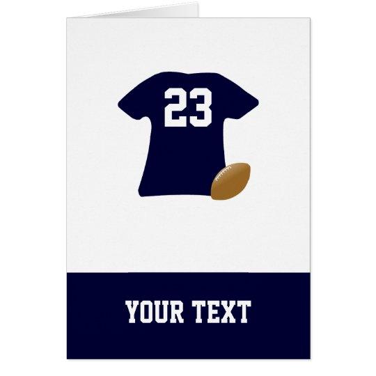 Uw Overhemd van het Football met de Kaart van de