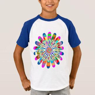 V - ÉCLABOUSSURE d'ÉTINCELLE bien choisie de V-Cou T-shirt
