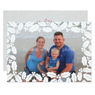 Vacances blanches de Noël de photo de recouvrement Carton D'invitation 12,7 Cm X 17,78 Cm