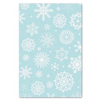 Vacances bleues de Noël de flocon de neige d'hiver Papier Mousseline