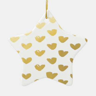 Vacances d'amour de coeur d'or ornement étoile en céramique