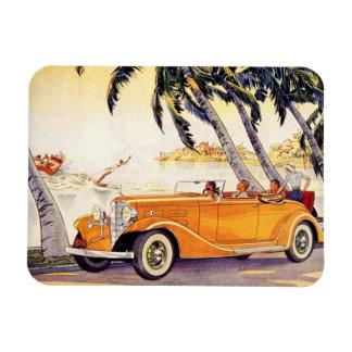 Vacances de famille vintages dans une voiture magnets en vinyle