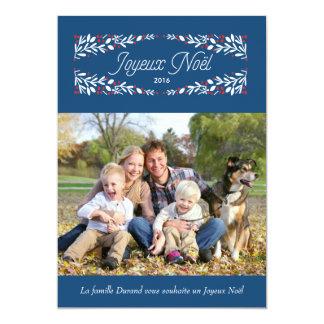 Vacances de joyeux carte de photo de très de Donc Carton D'invitation 12,7 Cm X 17,78 Cm