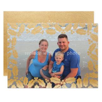 Vacances de Noël de photo de recouvrement de Carton D'invitation 12,7 Cm X 17,78 Cm