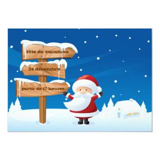 Vacances de Père Noël de fête de d'invitation de Carton D'invitation 12,7 Cm X 17,78 Cm