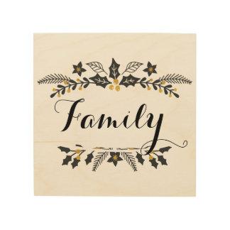 Vacances, décoration de signe de famille