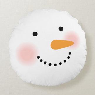 Vacances du coussin   de bonhomme de neige